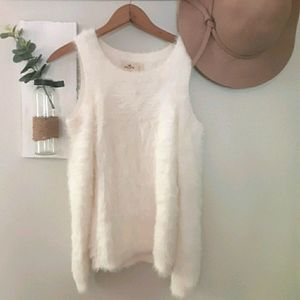 Hollister Cold Sholder Fuzzy Sweater